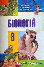 ГДЗ Біологія 8 клас Базанова Павіченко Шатровський 2008