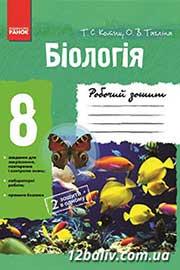 ГДЗ Біологія 8 клас Котик Тагліна 2013 - Робочий зошит