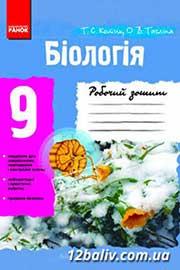 ГДЗ Біологія 9 клас Т.С. Котик, О.В. Тагліна (2012 рік) Робочий зошит