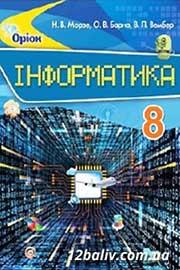 ГДЗ Інформатика 8 клас Н.В. Морзе, О.В. Барна, В.П. Вембер (2016 рік)