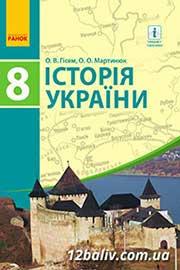 ГДЗ Історія України 8 клас Гісем О.В., Мартинюк О.О. (2016 рік)