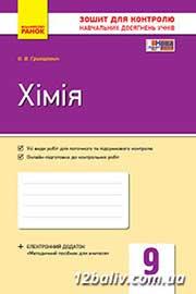 ГДЗ Хімія 9 клас О.В. Григорович (2017 рік) Зошит для контролю знань