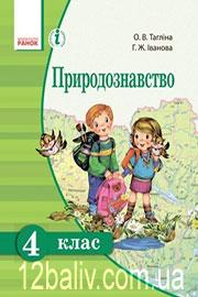 Підручник Природознавство 4 клас О.В. Тагліна, Г.Ж. Іванова 2015